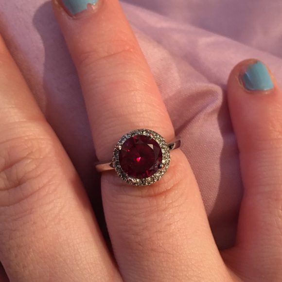 Jewelry - Sterling silver ruby ring size 7